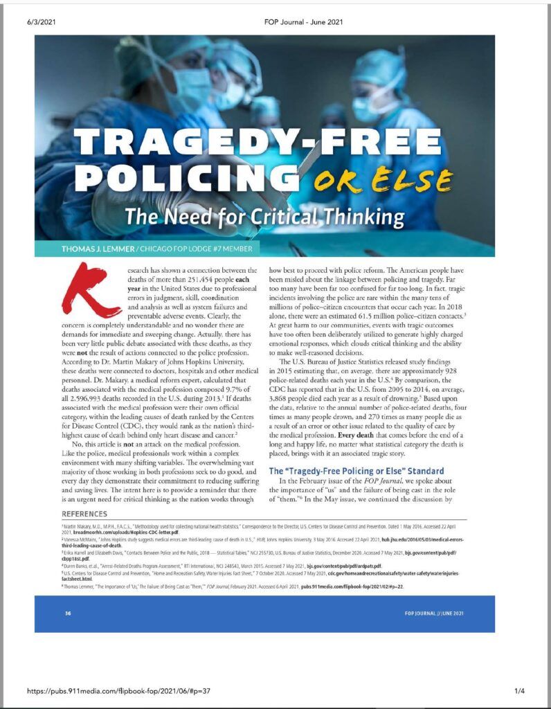 Tragedy-Free Policing or Else