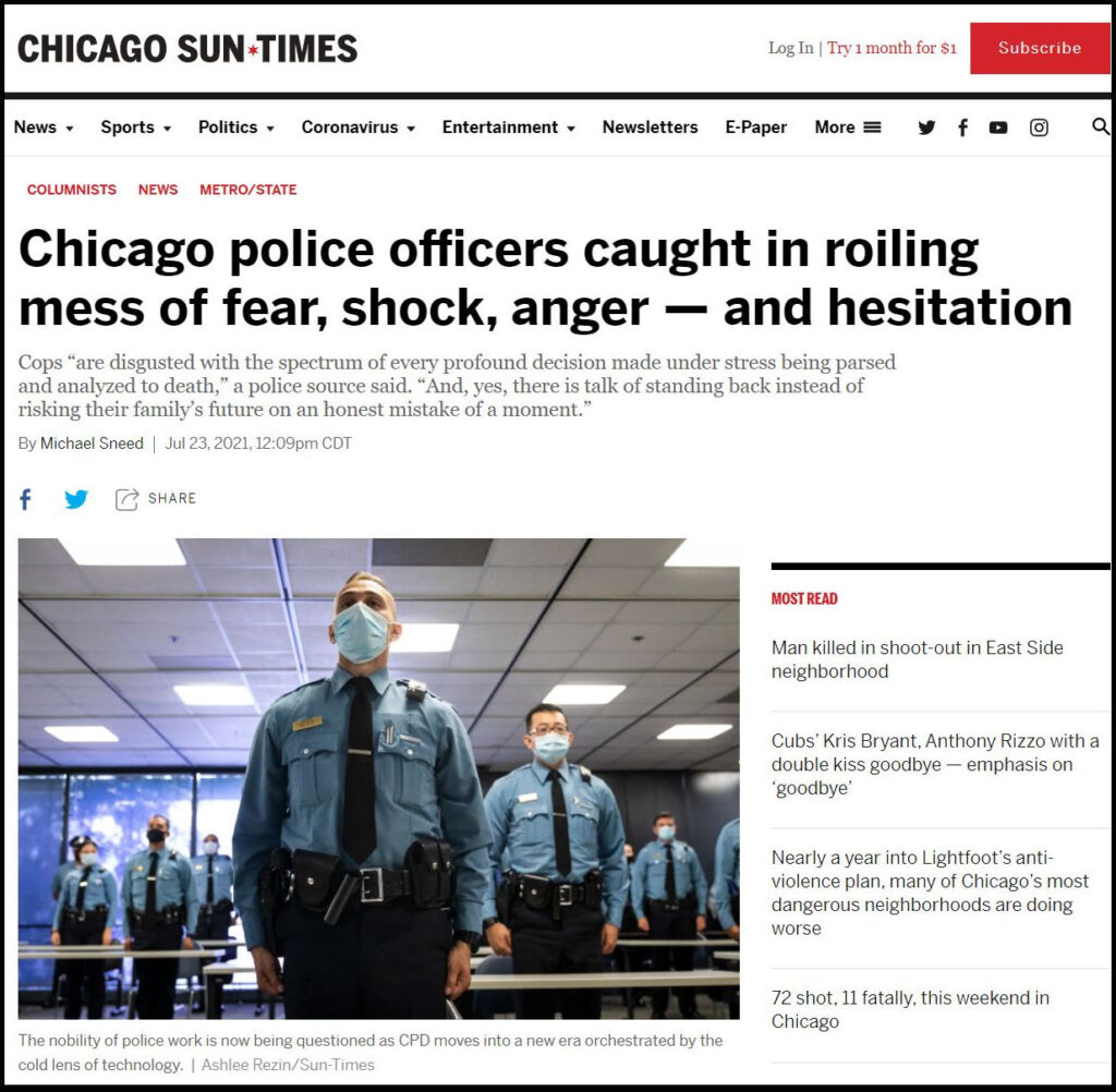 Is Chicago a Hadleyville? Here a Chicago Sun-Times article related to this question.