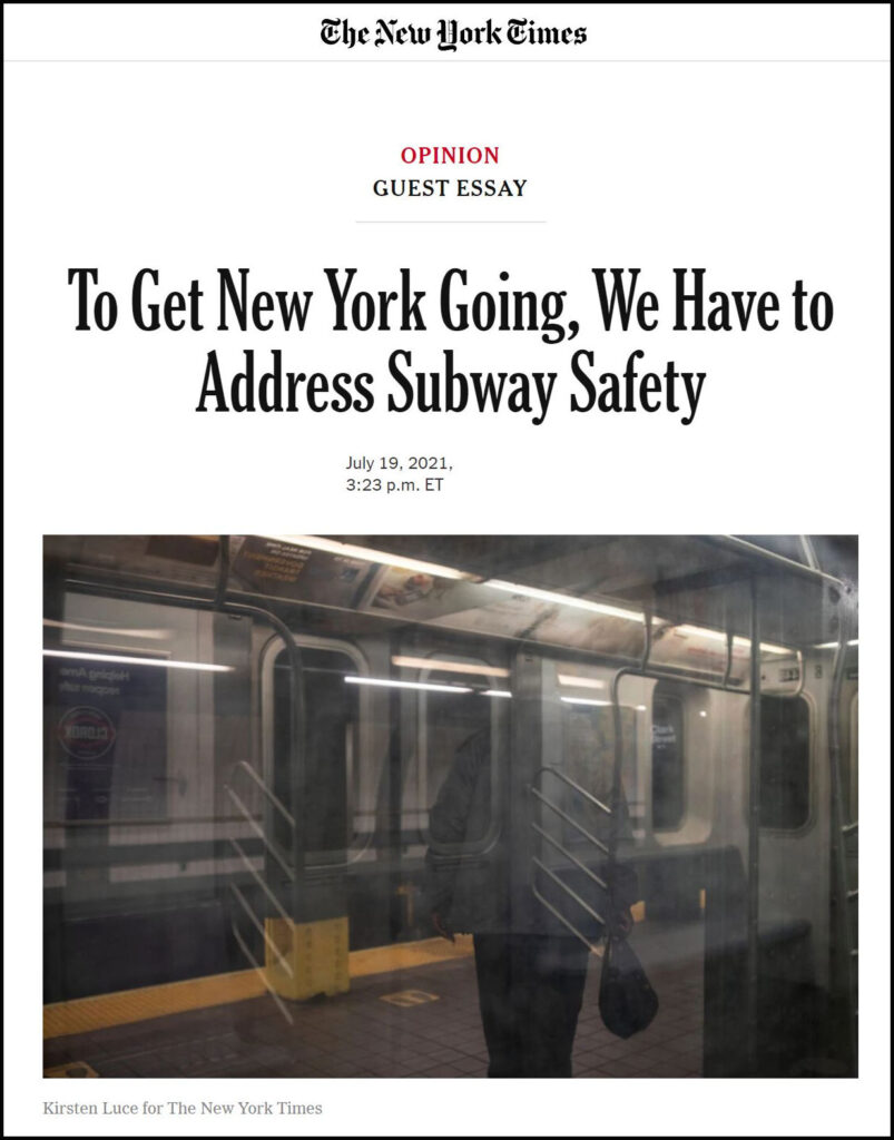 Subway Safety and Proactive Policing in NYC