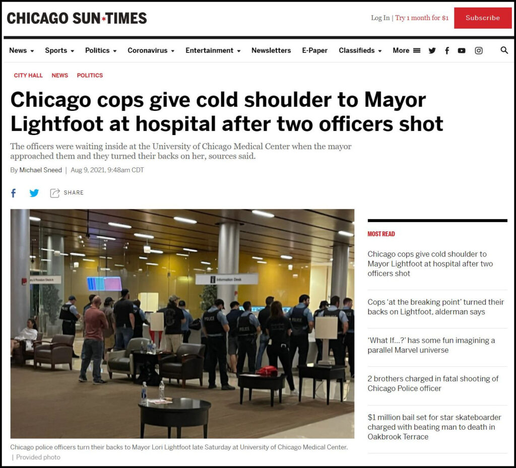 Cold Shoulder from Chicago Cops, Is Chicago a Hadleyville