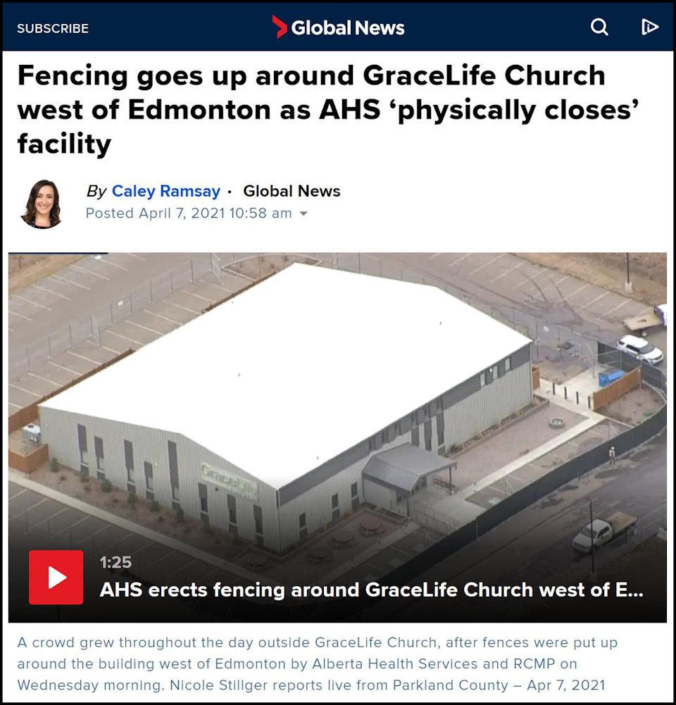 Pandemic Restrictions Enforcement - Fencing Put Around GraceLife Church