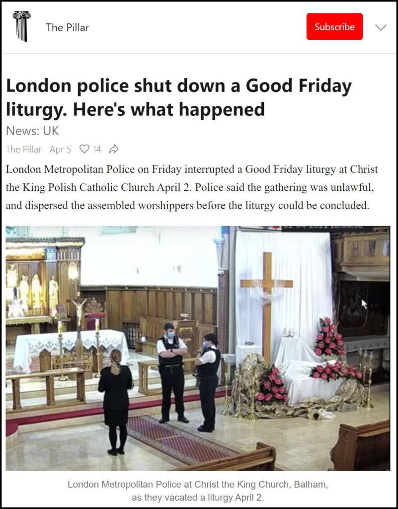 Pandemic Restrictions Enforcement - London